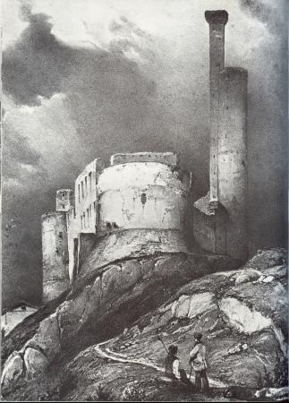 Le village et le château de Castelnau de lévis